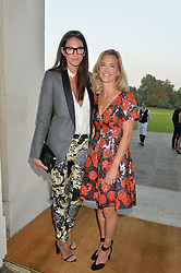 Left to right, JENNA LYONS J. Crew's creative director and BROOKE BARZUN at a party hosed by the US Ambassador to the UK Matthew Barzun, his wife Brooke Barzun and editor of UK Vogue Alexandra Shulman in association with J Crew to celebrate London Fashion Week held at Winfield House, Regent's Park, London on 16th September 2014.