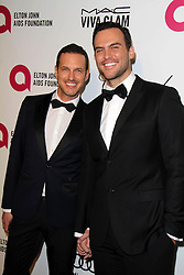 (L-R) Jason Landau and Cheyenne Jackson  attending the 22nd Annual Elton John AIDS Foundation Academy Awards Viewing/After Party in West Hollywood,  California, USA,  Sunday, 2nd March 2014. Picture by Hollywood Bubbles / i-Images<br /> UK ONLY