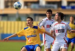 Andraz Struna and Marko Grizonic at 33rd Round of PrvaLiga Telekom Slovenije 2008/2009 league match between NK Luka Koper and NK Labod Drava Ptuj, on May 9, 2009, in SRC Bonifika, Koper, Slovenia. Drava won 2:1. (Photo by Vid Ponikvar / Sportida)