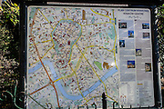 Tourist information map of Krakow, Poland