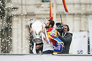 Real Madrid players celebrate winning the UEFA Champions League with an open top bus tour at Cibeles Square, Madrid<br /> Picture by EXPA Pictures/Focus Images Ltd 07814482222<br /> 29/05/2016<br /> ***UK &amp; IRELAND ONLY***<br /> EXPA-ESP-160529-0118.jpg