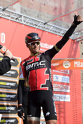 March 18, 2017 - San Remo, Italie - SANREMO, ITALY - MARCH 18 : VAN AVERMAET Greg (BEL) Rider of BMC Racing Team greeting the supporters during the UCI WorldTour 108th Milan - Sanremo cycling race with start in Milan and finish at the Via Roma in Sanremo on March 18, 2017 in Sanremo, Italy, 18/03/2017  (Credit Image: © Panoramic via ZUMA Press)