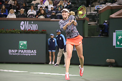 March 9, 2019 - Indian Wells, CA, U.S. - INDIAN WELLS, CA - MARCH 09: Ekaterina Alexandrova (RUS) hits a backhand during the BNP Paribas Open on March 9, 2019 at Indian Wells Tennis Garden in Indian Wells, CA. (Photo by George Walker/Icon Sportswire) (Credit Image: © George Walker/Icon SMI via ZUMA Press)