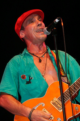 Manu Chao performing in Prospect Park during Celebrate Brooklyn on August 7, 2006
