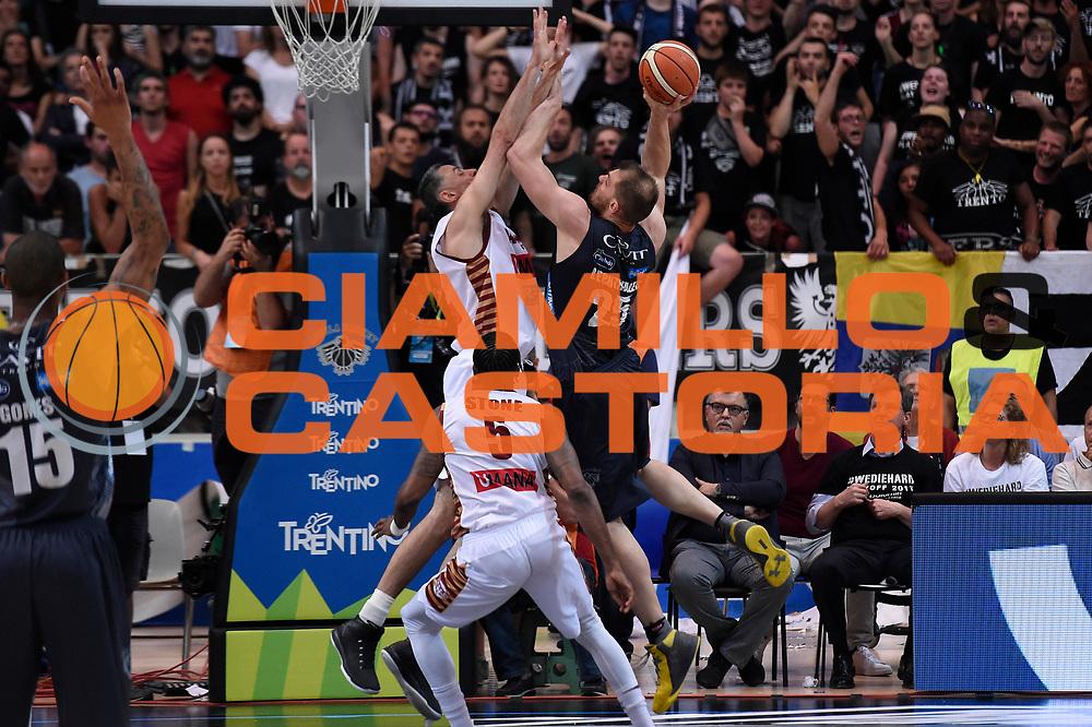 Luca Lechthaler<br /> Dolomiti Energia Aquila Basket Trento - Umana Reyer Venezia<br /> Lega Basket Serie A 2016/2017<br /> Playoff, finale gara 3<br /> Trento, 14/06/2017<br /> Foto M.Ceretti / Ciamillo-Castoria