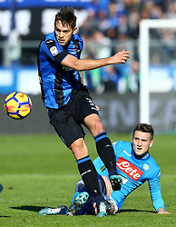 January 21, 2018 - Bergamo, Italy - Rafael Toloi of Atalanta and Piotr Zielinski of Napoli  during the Italian Serie A football match Atalanta Vs Napoli on January 21, 2018 at the 'Atleti Azzurri d'Italia Stadium' in Bergamo. (Credit Image: © Matteo Ciambelli/NurPhoto via ZUMA Press)