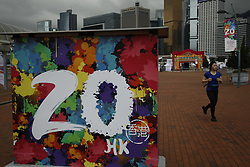 June 1, 2017 - Hong Kong, CHINA - A prominent signs are being set up in the city to remind citizens of coming celebration of 20th Anniversary of Hong Kongs HANDOVER to the Peoples Republic of China. HKSAR Government kicked off city-wide campaign for celebration of coming anniversary of HANDOVER on 1st of July this year. June 1, 2017.Hong Kong.ZUMA/Liau Chung Ren (Credit Image: © Liau Chung Ren via ZUMA Wire)