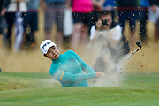 Mamiko Higa escapes from the 17th green side bunker  during the Ricoh Women's British Open golf tournament at Royal Lytham and St Annes Golf Club, Lytham Saint Annes, United Kingdom on 3 August 2018. Picture by Simon Davies.