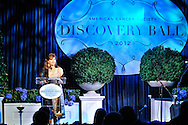 Maria Bartiromo, MC for American Cancer Society Discovery Ball, Radisson Blu Aqua Hotel, Chicago, Illinois.