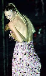 Julien Macdonald Collection Spring/Summer 2001 London Fashion Week. 26/9/2000 Jodie Kidd.Photo by Andrew Parsons/i-Images.All Rights Reserved ©Andrew Parsons/i-images.See Instructions.