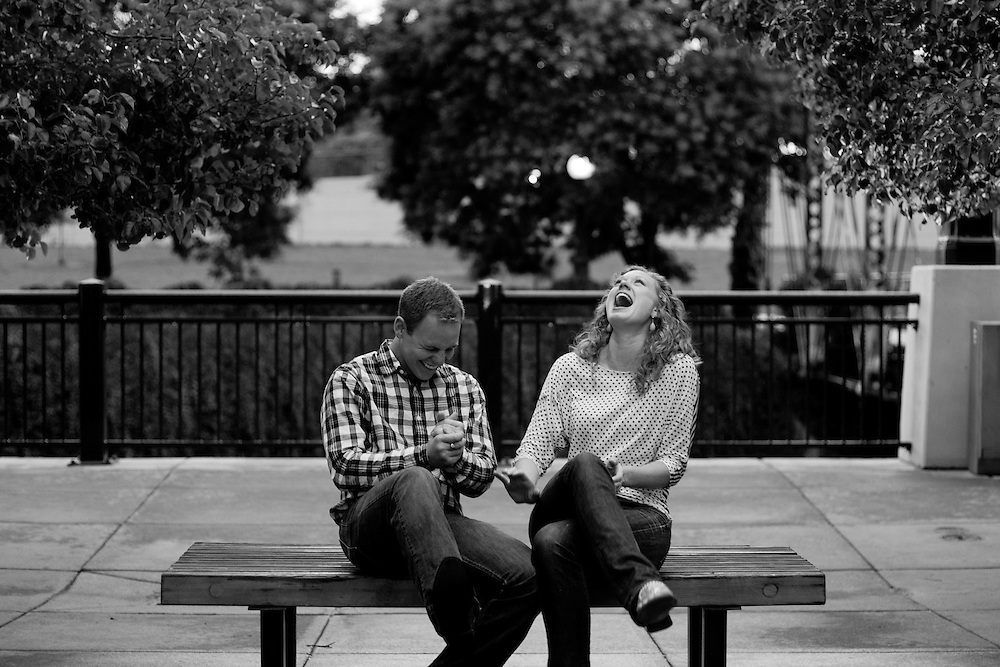 Carlyle Bradley and Michael Nann during their engagement session in , Tuesday, July 26, 2011. Photo by Justin Edmonds