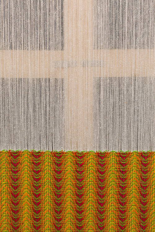 Detail of woven canvas with cotton thread
