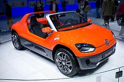 Volkswagen Buggy on display at Frankfurt Motor Show or IAA 2011 in Germany