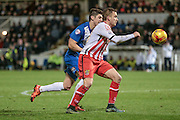 Dean Parrett (Stevenage) during the Sky Bet League 2 match between Hartlepool United and Stevenage at Victoria Park, Hartlepool, England on 9 February 2016. Photo by Mark P Doherty.
