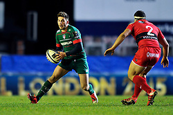 Owen Williams of Leicester Tigers in possession - Photo mandatory by-line: Patrick Khachfe/JMP - Mobile: 07966 386802 07/12/2014 - SPORT - RUGBY UNION - Leicester - Welford Road - Leicester Tigers v Toulon - European Rugby Champions Cup
