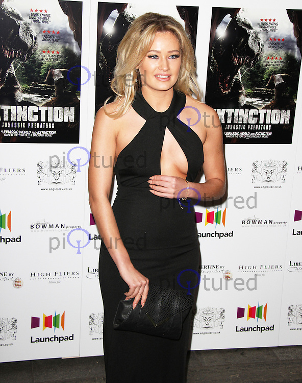 Georgia Eden, Extinction: Jurassic Predators - UK Film Premiere, Prince Charles Cinema, London UK, 25 February 2015, Photo By Brett D. Cove