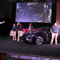 Sean Suggs, President of Toyota Motor Manufacturing, Mississippi, Inc., introduces the 12th generation 2020 Toyota Corolla during a line off ceremony Monday at the Blue Springs plant.