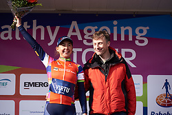 Anouska Koster (NED) wins the combativity award at Healthy Ageing Tour 2019 - Stage 4B, a 74.6km road race from Wolvega to Heerenveen, Netherlands on April 13, 2019. Photo by Sean Robinson/velofocus.com