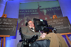 Professor Stephen Hawking reveals the findings of 'A Brief History of How England Can Win The World Cup' a study commissioned by Paddy Power at The Savoy, London, UK.<br /> <br /> Wednesday, 28th May 2014. Picture by Ben Stevens / i-Images