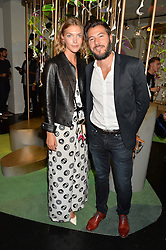 ARIZONA MUSE and BONIFACE VERNEY-CARRON at the opening of L'Eden by Perrier-Jouet held at The Unit, 147 Wardour Street, Soho, London on 15th September 2016.