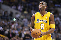 20 December 2005: Guard Kobe Bryant of the Los Angeles Lakers shoots a freethrow against the Dallas Mavericks as the Lakers defeat the Dallas Mavericks 112-90 at the STAPLES Center in Los Angeles, CA.