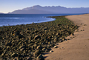 Rocks along the beach at low tide, Bahia de los Angeles, Baja California, Mexico