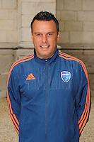 Herve DELLA MAGGIORE - 26.09.2015 - Photo officielle Bourg en Bresse Peronnas - Ligue 2<br /> Photo : Jean Paul Thomas / Icon Sport