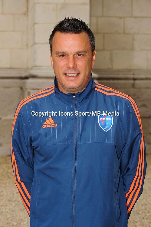 Herve DELLA MAGGIORE - 26.09.2015 - Photo officielle Bourg en Bresse Peronnas - Ligue 2<br /> Photo : Jean Paul Thomas / Icon Sport