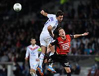 Fotball<br /> Frankrike<br /> 15.09.2013<br /> Foto: Panoramic/Digitalsport<br /> NORWAY ONLY<br /> <br /> Lyon v Rennes<br /> Cleemnt Grenier (lyon) vs Anders Konradsen (rennes)