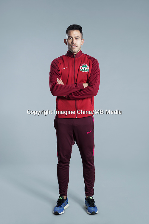 Portrait of Filipino soccer player Javier Patino of Henan Jianye F.C. for the 2017 Chinese Football Association Super League, in Zhengzhou city, central China's Henan province, 19 February 2017.