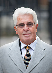 © Licensed to London News Pictures. 09/02/2012. London, UK. publicist Max Clifford arriving at the Royal Courts of Justice on February 9th, 2012    to give evidence at the Leveson Inquiry in to press standards.. Photo credit : Ben Cawthra/LNP