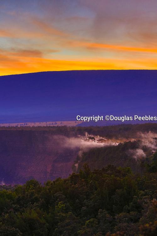 Steam vents, Halemaumau Crater, Kilauea Volcano, HVNP, Big Island of Hawaii
