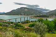 Concrete bridge in Northern Greece