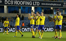 Birmingham City's Michael Morrison and teammates applauds the fans at full time