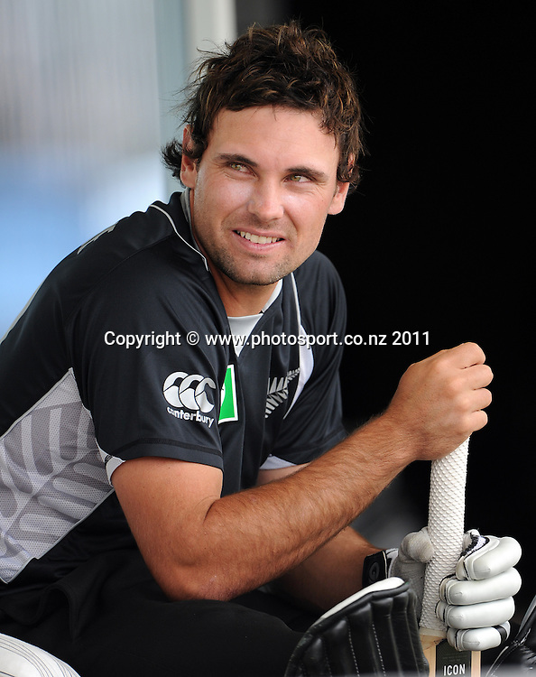 Dean Brownlie during the 2nd ODI cricket match between New Zealand and Zimbabwe at Cobham Oval in Whangarei, Monday 6 February 2012. Napier, New Zealand. Photo: Andrew Cornaga/Photosport.co.nz