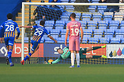 GOAL Ollie Norburn scores from the penalty spot during the EFL Sky Bet League 1 match between Shrewsbury Town and Rochdale at Greenhous Meadow, Shrewsbury, England on 17 November 2018.