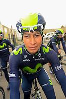 Dayer Quintana - Movistar - 31.03.2015 - Trois jours de La Panne - Etape 01 - De Panne / Zottegem <br /> Photo : Sirotti / Icon Sport<br /> <br />   *** Local Caption ***