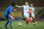 Karen Carney (England) (Chelsea) during the Women's International Friendly match between England Ladies and Italy Women at Vale Park, Burslem, England on 7 April 2017. Photo by Mark P Doherty.
