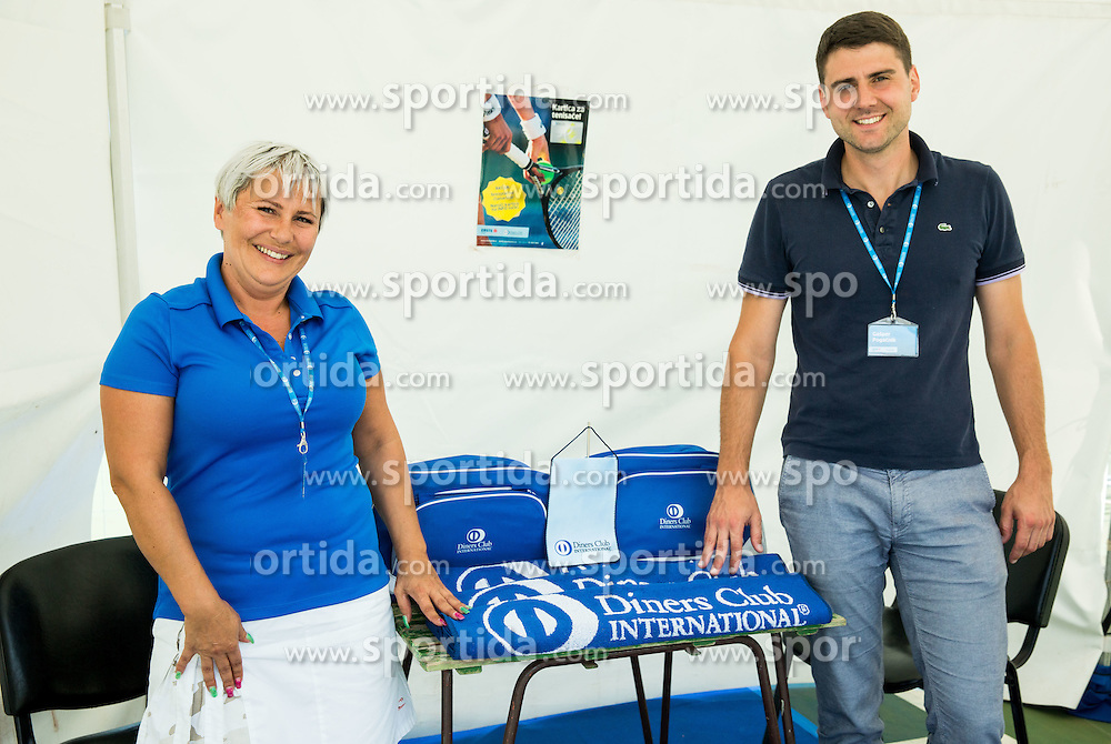 Diners Club during ATP Challenger Tilia Slovenia Open 2016, on August 12, 2016 in Sports centre, Portoroz/Portorose, Slovenia. Photo by Vid Ponikvar / Sportida