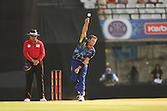 Ian Butler of Otago Volts bowls a delivery during the Qualifier 1 match of the Karbonn Smart Champions League T20 (CLT20) between Otago Volts and the Faisalabad Wolves held held at the Punjab Cricket Association Stadium, Mohali on the 17th September 2013<br /> <br /> Photo by Ron Gaunt/CLT20/SPORTZPICS<br /> <br /> <br /> Use of this image is subject to the terms and conditions as outlined by the CLT20. These terms can be found by following this link:<br /> <br /> http://sportzpics.photoshelter.com/image/I0000NmDchxxGVv4<br /> <br /> ENTER YOUR EMAIL ADDRESS TO DOWNLOAD