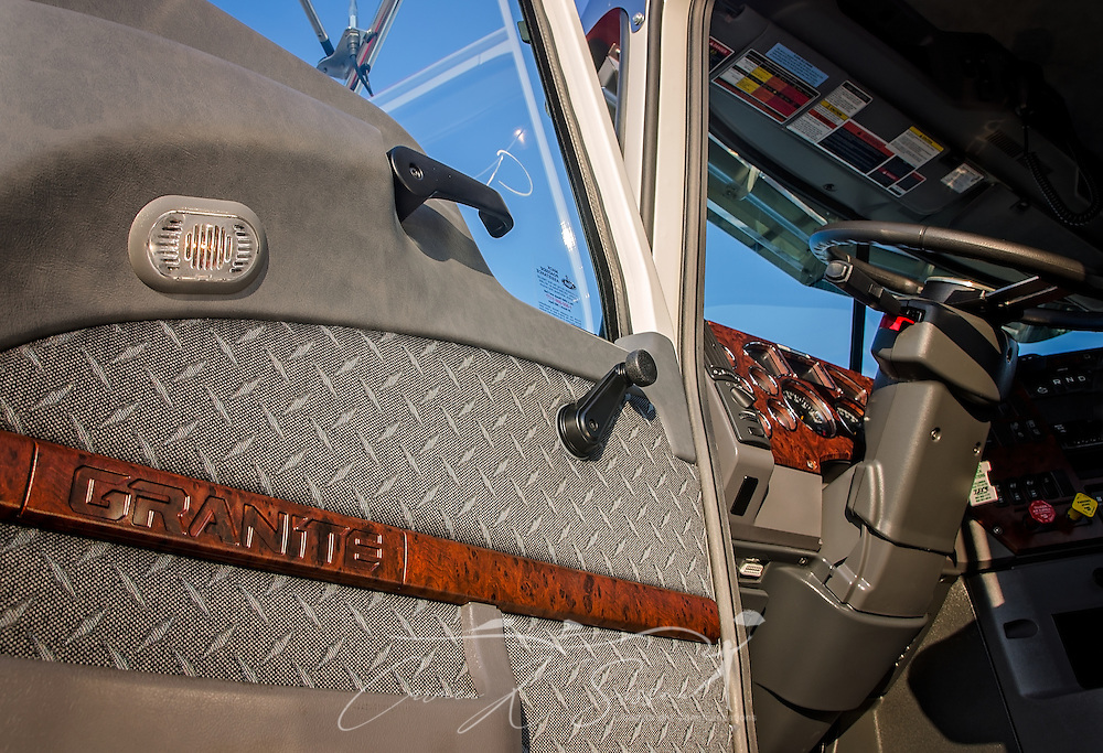 The driver's side door panel of a 2017 Mack Granite is pictured at Shealy Truck Center, Nov. 16, 2016, in Columbia, S.C. (Photo by Carmen K. Sisson/Cloudybright)