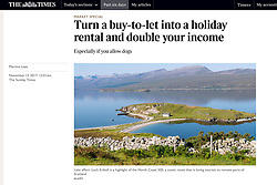 The Times; Loch Eriboll on North Coast 500 Route in Scotland