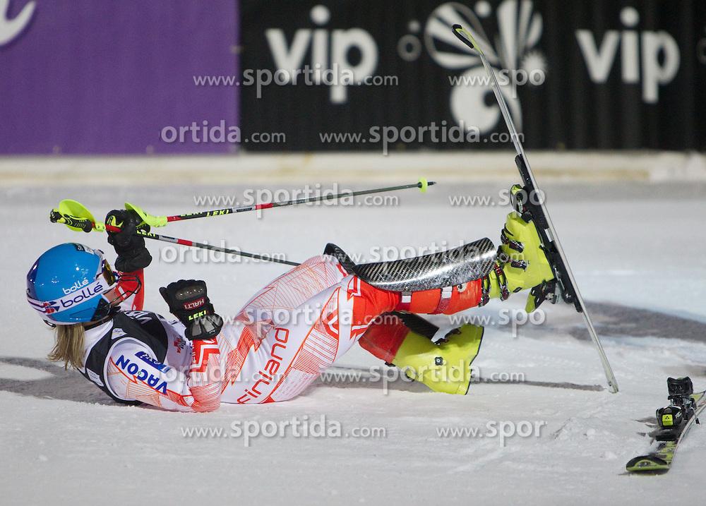 4.1.2011, Vip Snow Queen Trophy, Sljeme, Zagreb, CRO, Audi FIS World Cup Ski Alpin, Ladies, Slalom, at Picture POUTIAINEN Tanja (FIN) during second run; SPORTIDA PHOTO AGENCY © 2011, PhotoCredit: SPORTIDA / Vid Ponikvar