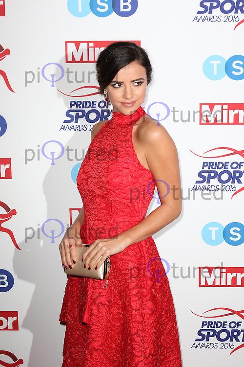 Lucy Mecklenburgh, Pride of Sport Awards, Grosvenor House Hotel, London UK, 07 December 2016, Photo by Richard Goldschmidt