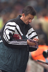 COVENTRY, ENGLAND - Saturday, April 6, 1996: Liverpool's substitute Ian Rush signs autographs against Coventry City during the Premiership match at Highfield Road. Coventry won 1-0. (Pic by David Rawcliffe/Propaganda)