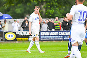 Leeds United Jack Clarke (11), on loan from Tottenham Hotspur, scores a goal and celebrates to make the score 0-2 during the Pre-Season Friendly match between Tadcaster Albion and Leeds United at i2i Stadium, Tadcaster, United Kingdom on 17 July 2019.