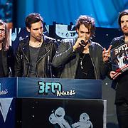NLD/Amsterdam/20130418- Uitreiking 3FM Awards 2013, beste Album 2013 voor Kensington, Casper Starreveld, Eloi Youssef, Niles Vandenberg