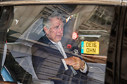 Rosewood Hotel, Holborn, London, November 1st 2016. His Royal Highness  Charles The Prince of Wales accompanied by Camilla The Duchess of Cornwall arrive at the Rosewood Hotel in Holborn, London, to greet the President of Colombia Juan Manuel Santos, who is on a State Visit to Britain, and his wife Maria Clemencia Rodriguez de Santos before travelling with them to their ceremonial welcome At Horse Guargrds Parade by Her Majesty The Queen. PICTURED: Prince Charles leaves the Rosewood Hotel.