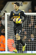 Picture by David Horn/Focus Images Ltd +44 7545 970036.28/11/2012.Luis Suarez of Liverpool after an own goal bring Liverpool back into the game during the Barclays Premier League match at White Hart Lane, London.