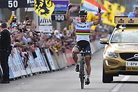 Arrival, SAGAN Peter (SVK) Tinkoff, winner, during the 100th Tour of Flanders 2016,  Brugge - Oudenaarde (255Km) in Belgium, on April 3, 2016 - Photo Tim de Waele / DPPI